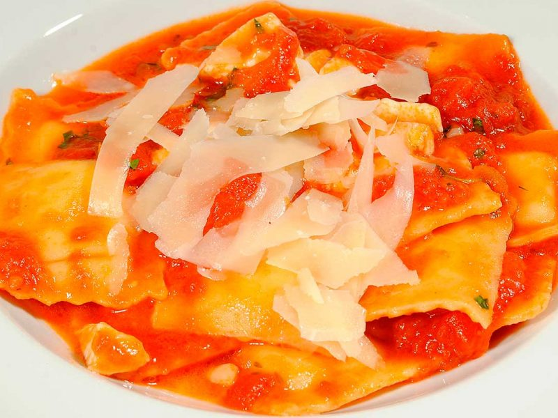 Ravioli with four cheeses